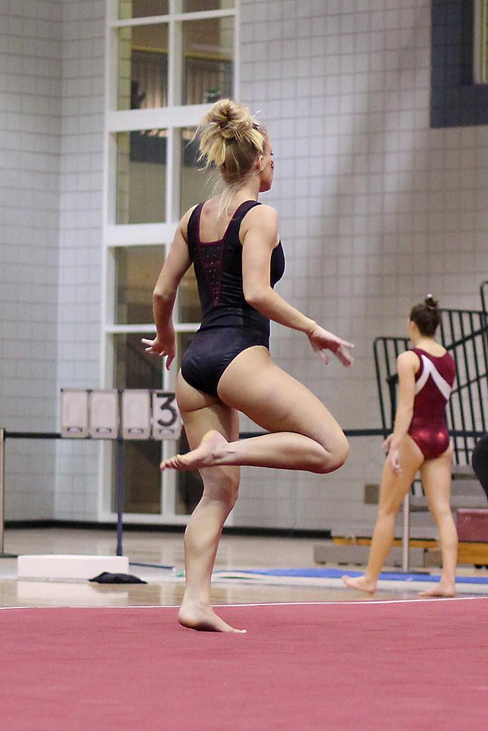 Twu Gymnastics Floor Brittany Johnson Sophomore