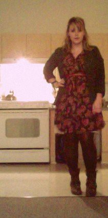 head2toe: 2.18.11 | dress: thrift, jacket, belt, boots ...