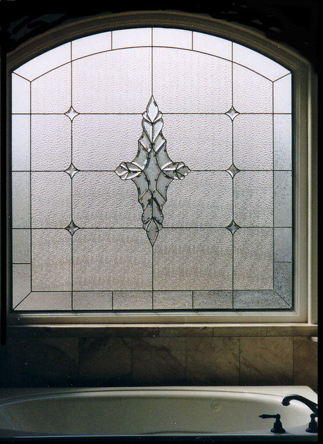 Beveled stained glass bathroom window designs flickr for Stained glass bathroom window designs