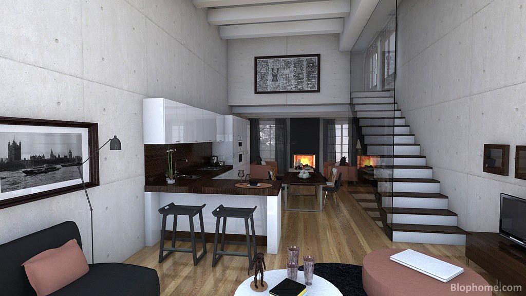 Lofts modernos loft dise ado con la herramienta de for Loft modernos exterior