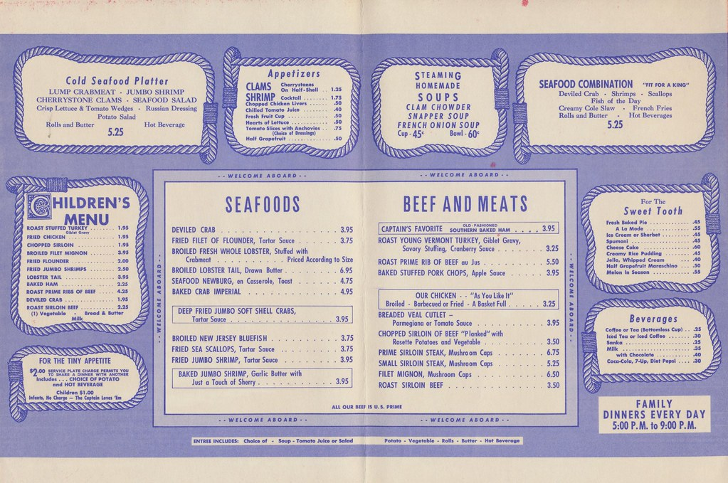 B Smith Restaurant Menu
