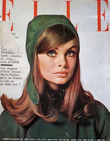 Elle january 1965 cover model jean shrimpton is wearing for Elle pronunciation