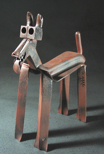 Scrap Metal Dog Pet Wow
