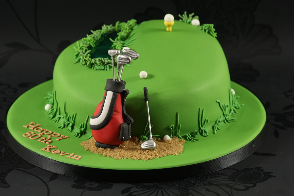 Golf Theme Cake Made for a golfers 50th birthday. I m ...