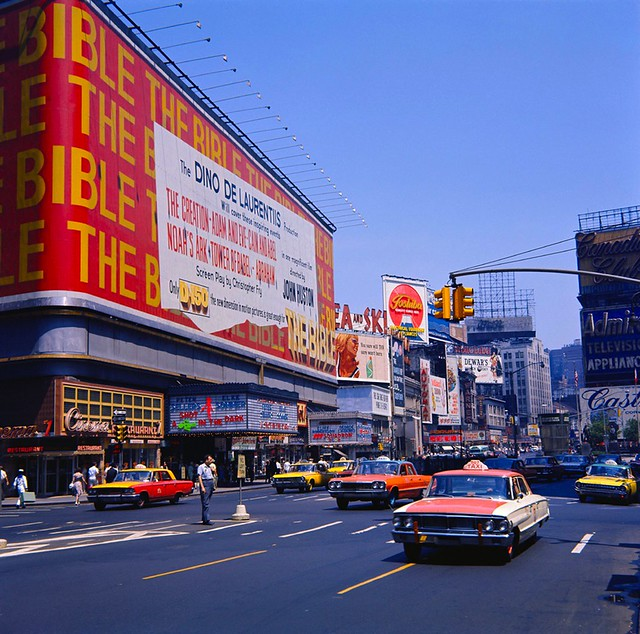 Times Square 1964 Victoria Theatre 1940s Vintage Nyc Billboards Flickr Photo Sharing