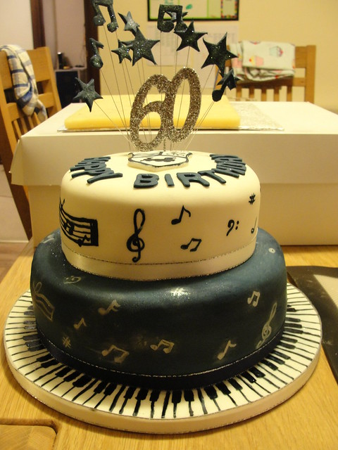 60th Birthday cake  Music Theme  Flickr - Photo Sharing!