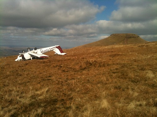Day #285 crashed plane on the Beacons | by edtechie99