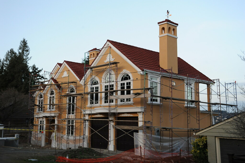 New house construction with romantic florishes and details for New way of building houses