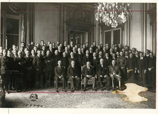 President Wilson with Advisors and Staff at Paris Peace Conference | by Woodrow Wilson Presidential Library Archives
