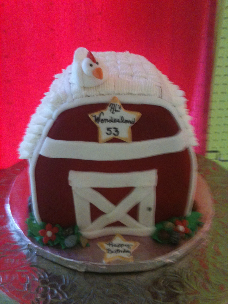 Little Red Barn Cake This Cake Was For A Man Who Loved