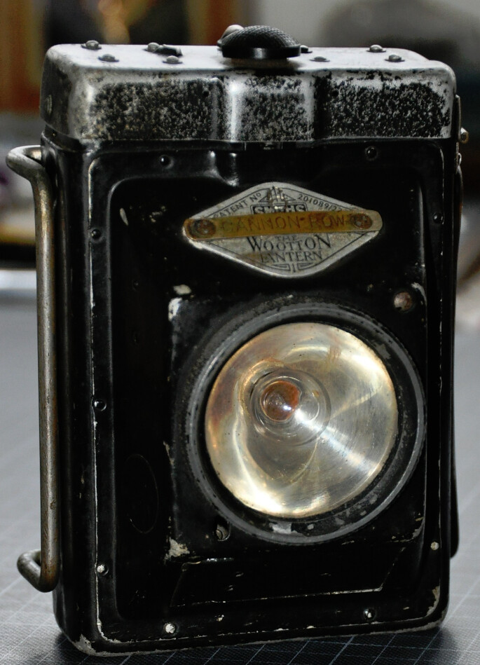 Original Wootton Police Lantern Actually Used At London
