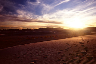 Footprints over White Sands, New Mexico | by Lightning_Todd