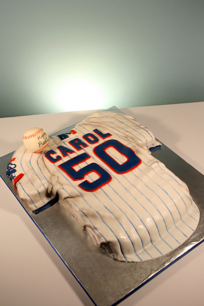 Chicago Cubs Jersey 50th Birthday Cake 50th Birthday For