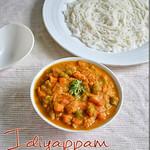 Kurma for idiyappam, rava idli