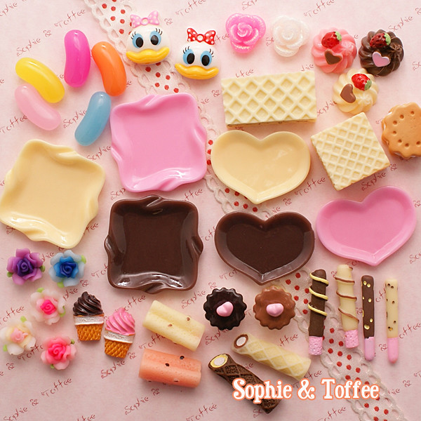デコデン //// DECO DEN - WHOLESALE Kawaii Cabochons MIX DecoSweets ...