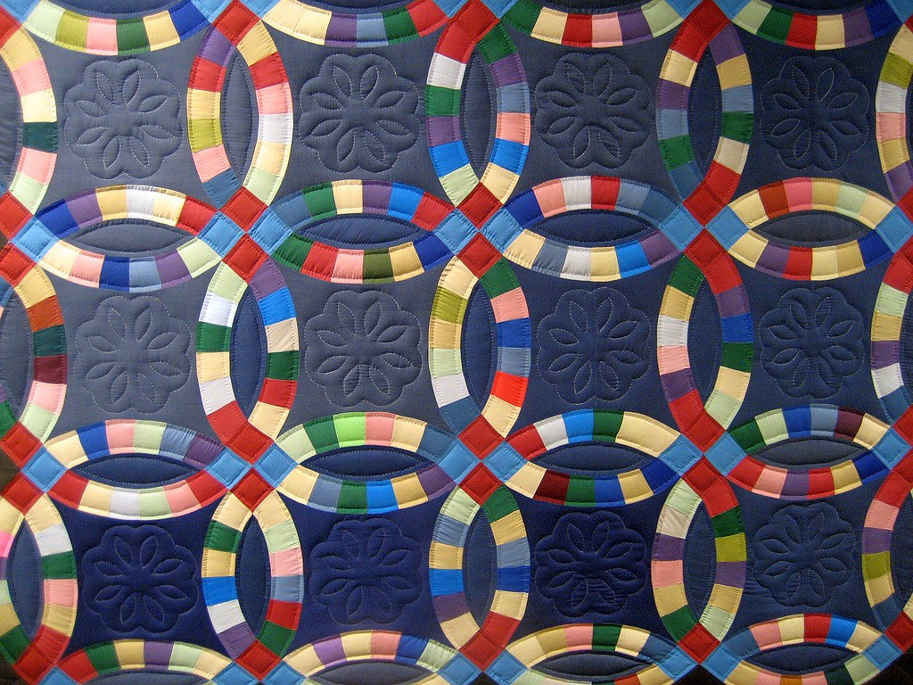 Double Wedding Ring Quilt At The Diagnostic Center Hangs