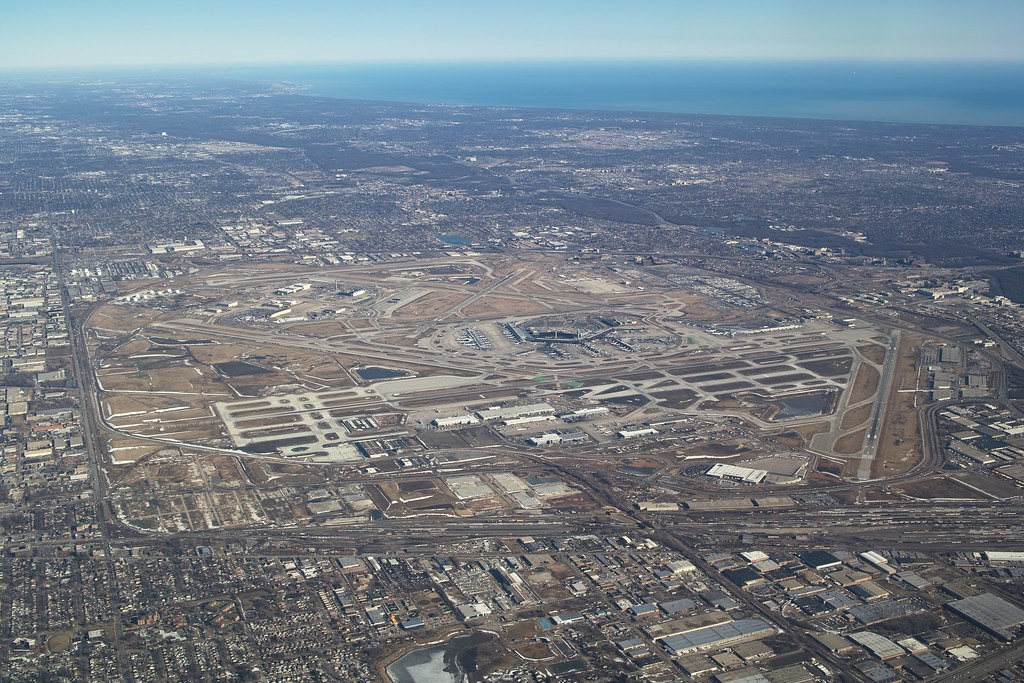 Chicago O Hare International Airport Ord Aerial View