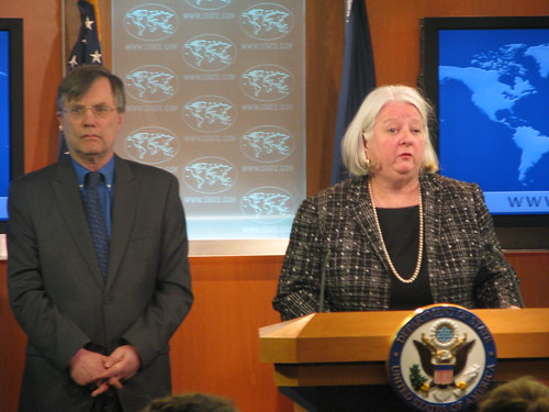 Deputy Assistant Secretary Sanderson, With Under Secretary Kennedy, Leads the Special Press Briefing | by U.S. Department of State