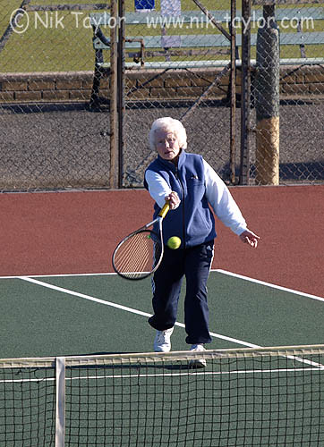 Old Lady Playing Tennis My Website Nik Taylor Flickr