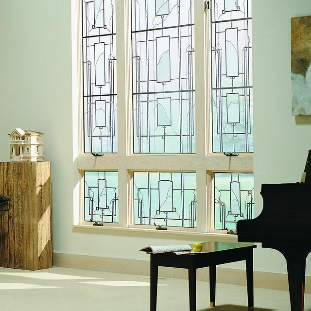 400 series art glass artisan series harmonics design for Andersen windows art glass