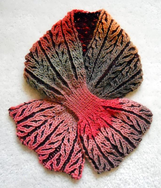 ??????(Brioche Stitch Scarf)1 From: Vogue Knitting, Winter? Flickr
