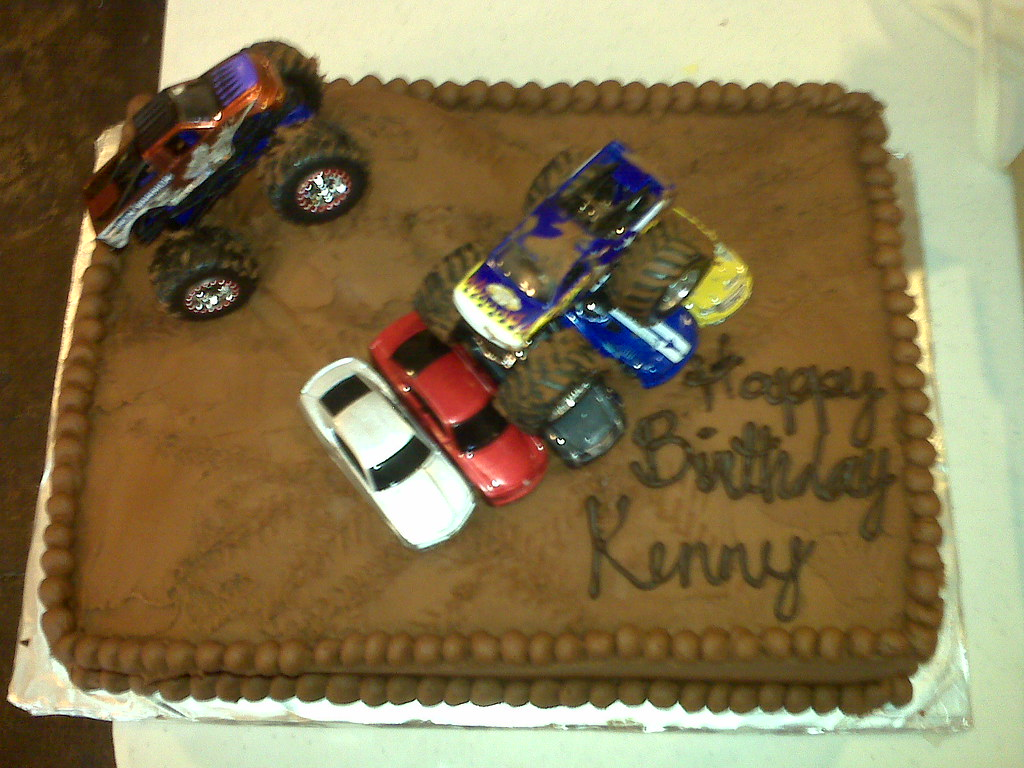 4x4 Birthday Cake Cake Was For A Kid Who Loved 4x4 S And
