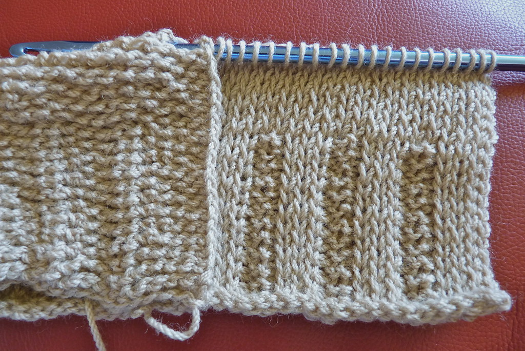 Tunisian Crochet Knit Stitch In The Round : Tunisian crochet Trying out a knitting pattern in Tunisian? Flickr