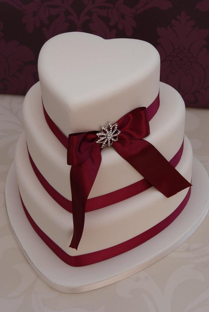 Love Heart Wedding Cake Three Tier Wedding Cake In A