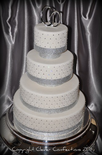 wedding cake rhinestone bling bling wedding cake this fondant covered cake is 23676