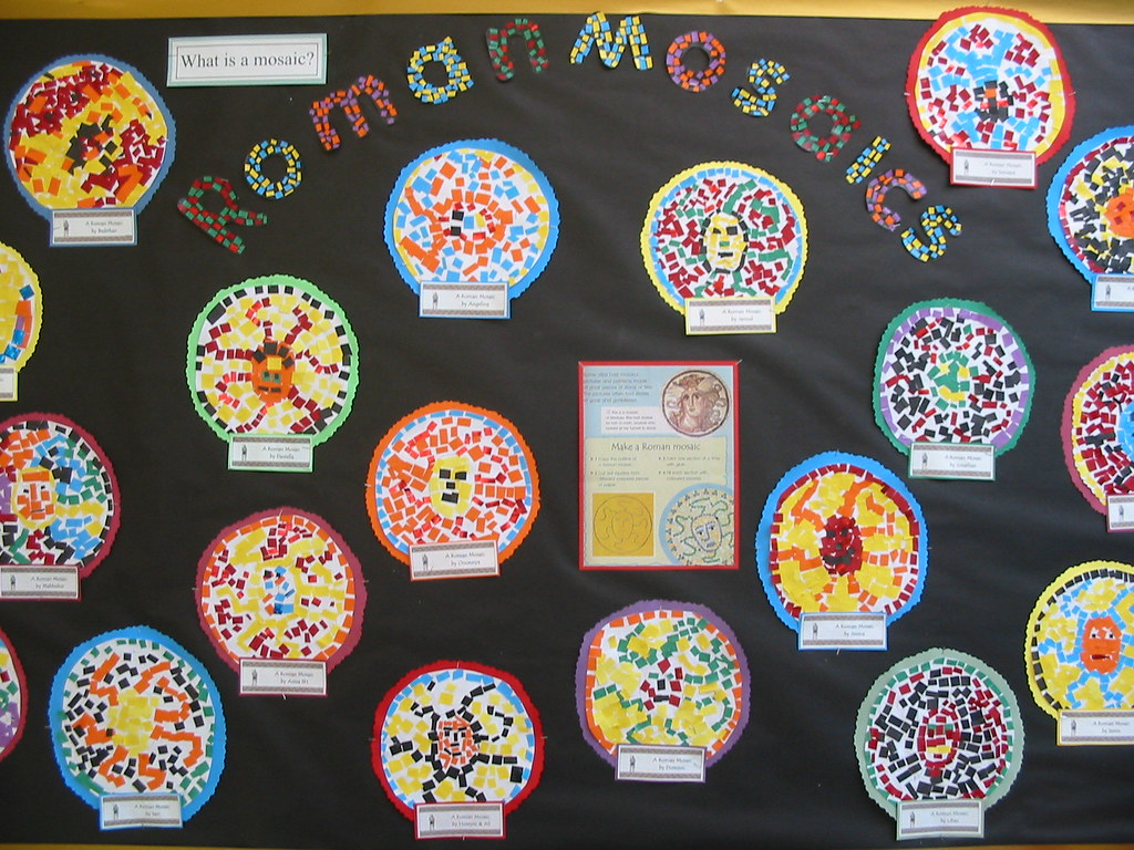 Roman Mosaics By Year 3 Rubina Ali Flickr