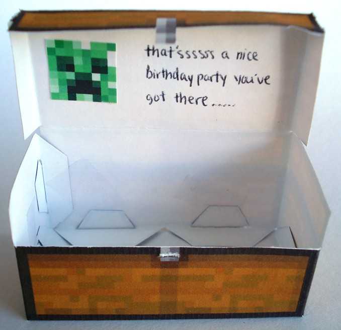 Minecraft Papercraft Double Chest A Quick Creation For