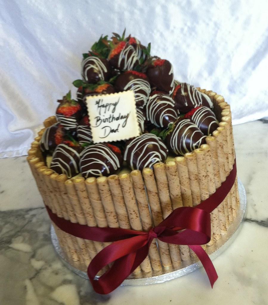Chocolate Covered Strawberry Cake Vanilla Bean