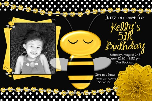 Bumble Bee Baby Shower Birthday Invitations Flickr