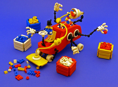 A.B.S. Snorter and his Lego brick sorter | by Legohaulic