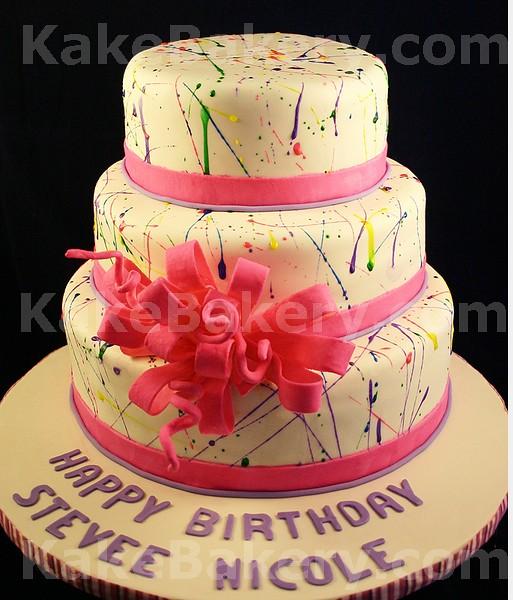 paint-splatter-birthday-cake | Paint Splatter Fun Birthday C ...