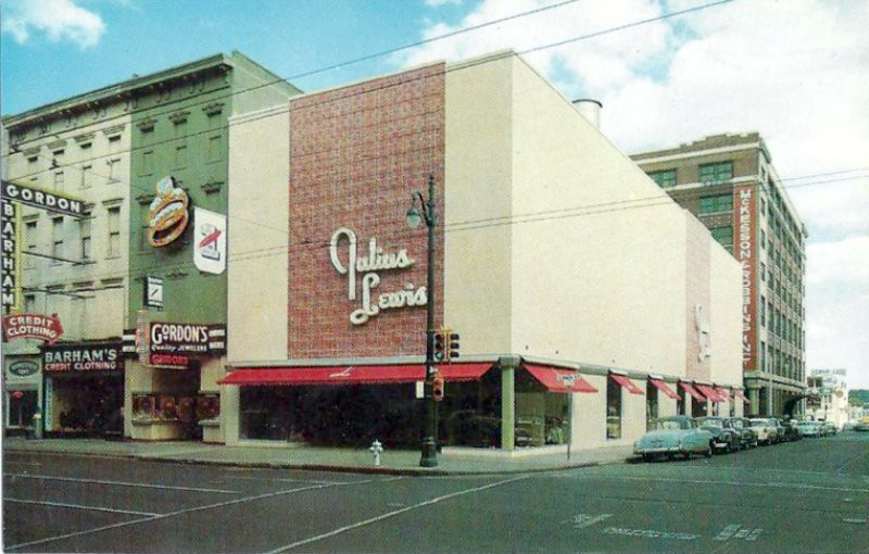 Block World Free >> Julius Lewis store on Main at Gayoso, Memphis, TN - 1950s | Flickr