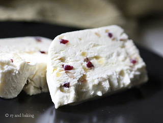 Ginger Almond & Cranberry Semifreddo 2 | by Elissa @ 17 and Baking