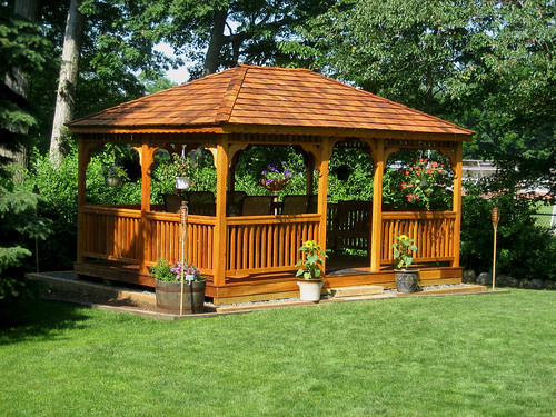 Cedar Rectangle Gazebo Flickr Photo Sharing