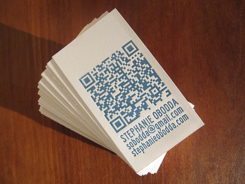 Letterpress Business Cards with QR Code | by sobodda