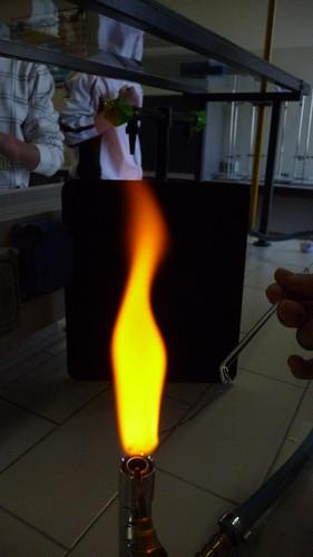 Saggio alla fiamma: Sodio (flame test: Sodium ...
