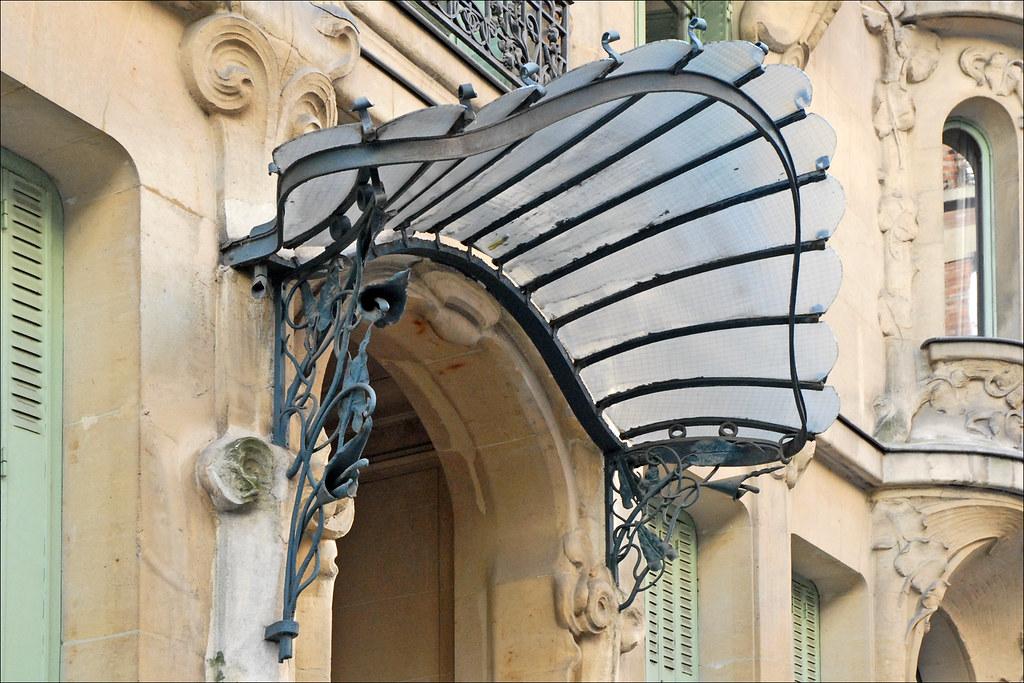 Immeuble art nouveau d 39 octave raquin paris marquise en f flickr for Une marquise