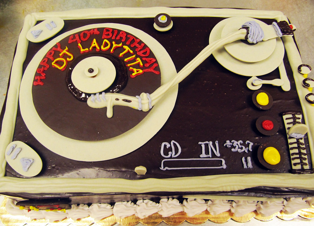 Prime Chocolate Dj Turntable Birthday Cake By Tony Tone Tone A Flickr Birthday Cards Printable Benkemecafe Filternl
