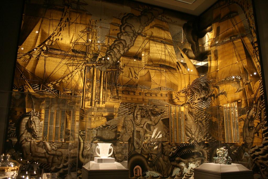 Ss Normandie Grand Salon Jean Dupas Jacques Charles