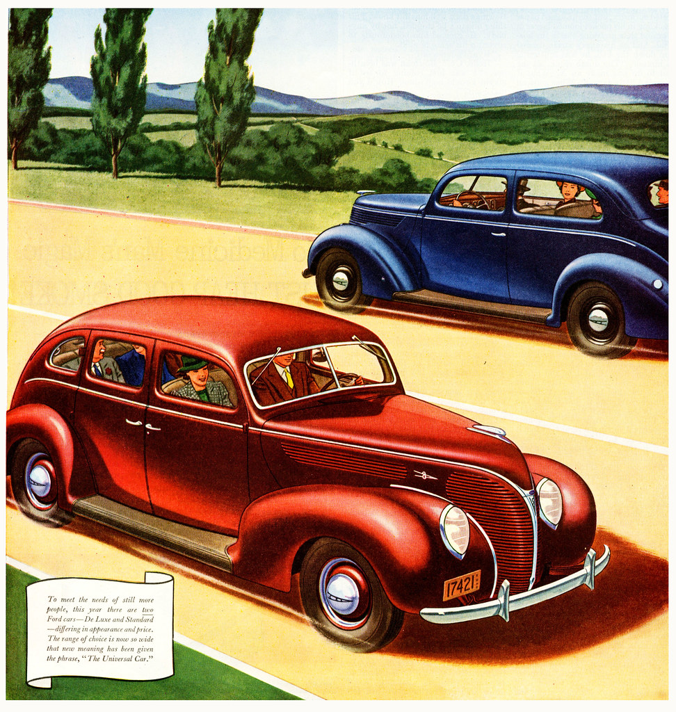 the universal car august 1938 ford ad paul malon flickr. Black Bedroom Furniture Sets. Home Design Ideas