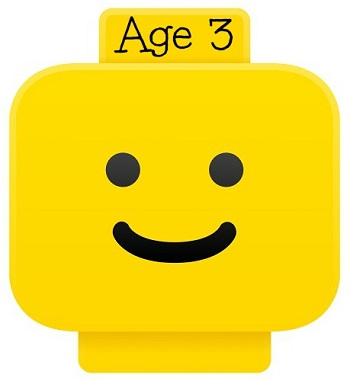 LEGO smiley head for age 3