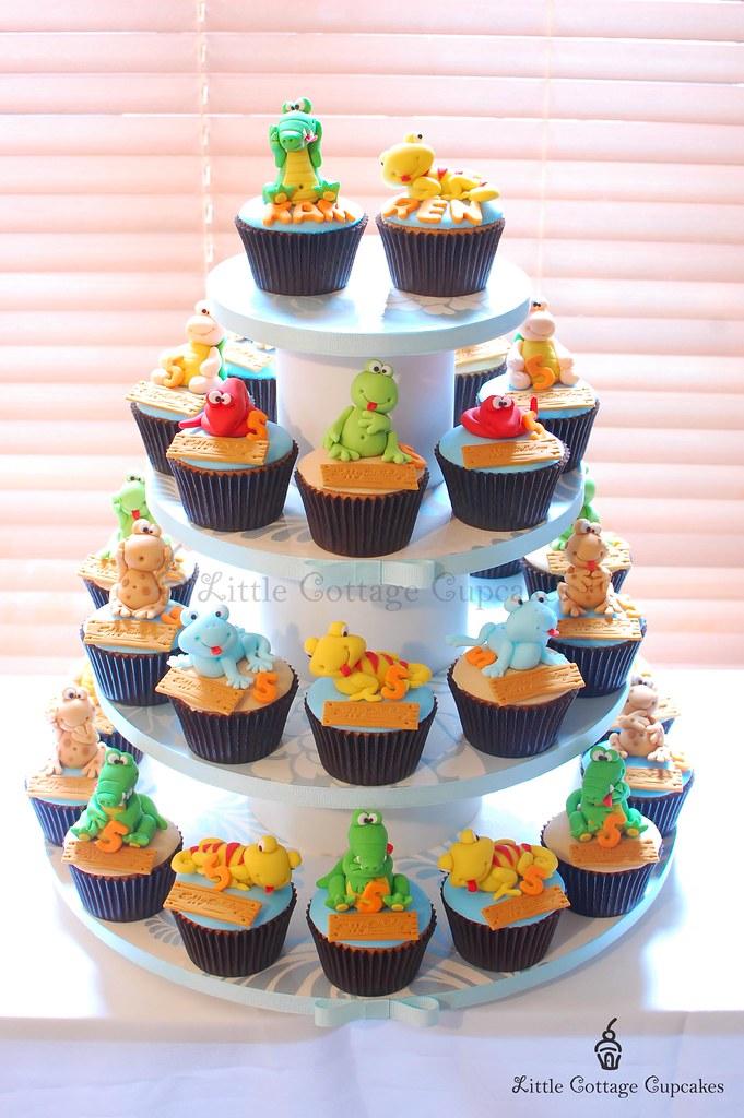 Reptile Razzmatazz Reptile Theme Cupcake Tower For A Boy