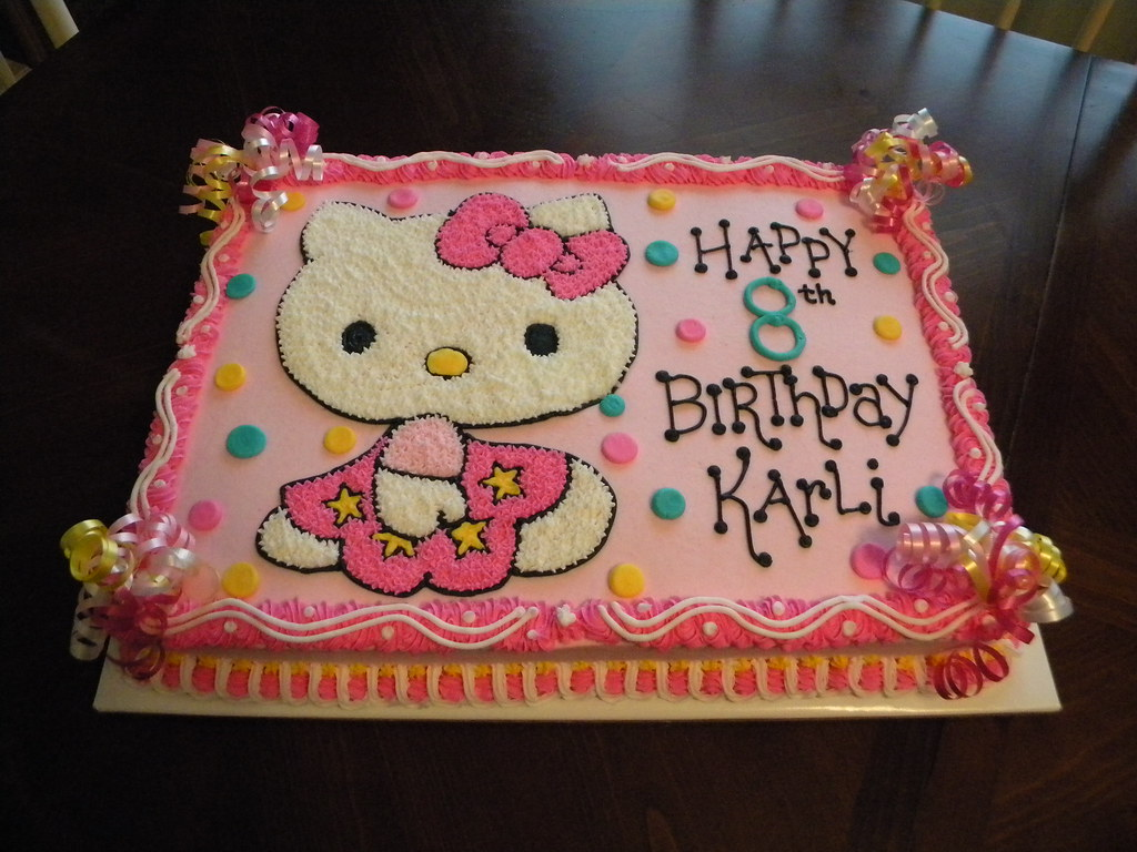 Hello Kitty Birthday Cake Jennifer Flickr