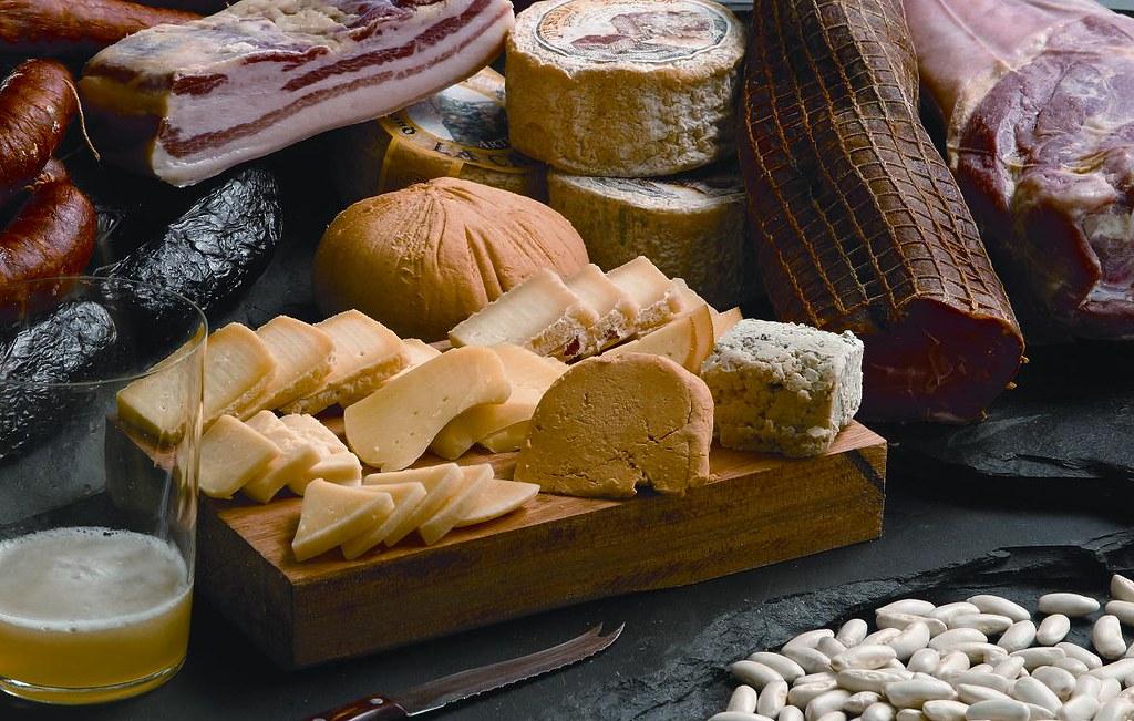 Productos típicos de la gastronomía de Asturias