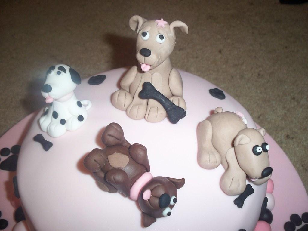 Fondant Dog Cake Toppers