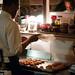 Gabriel Mitchell preparing dessert